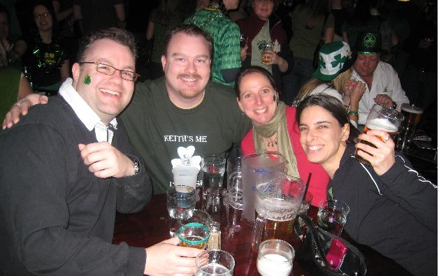 Paddy's Day regulars that always have a good time.